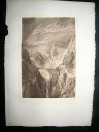 Dawson after Turner 1885 Photogravure. Old Devil's Bridge